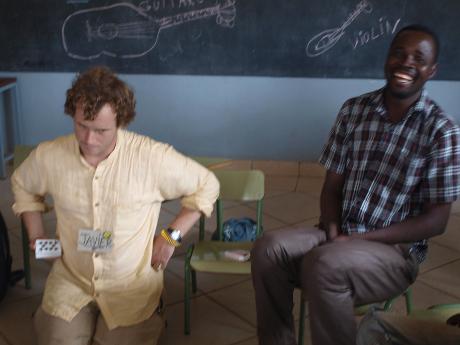 En la Escuela de Tanguietà con Damien (Benín)